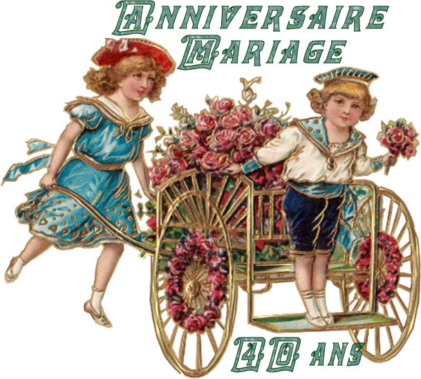 anniversaire de mariage - Noce De Mariage 40 Ans
