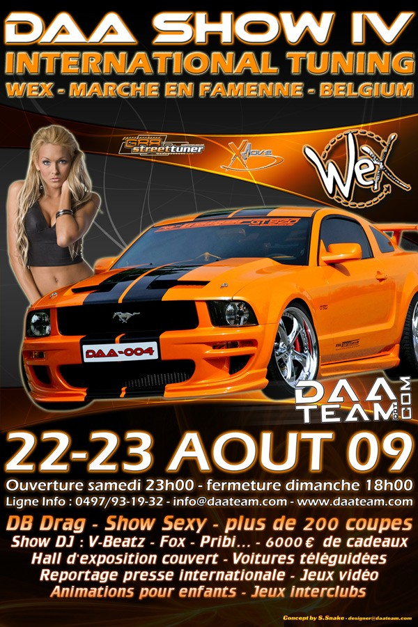 DAA SHOW 4 - 22-23 Août 2009, Meeting en Belgique - Meeting, salons... - Discussion générale