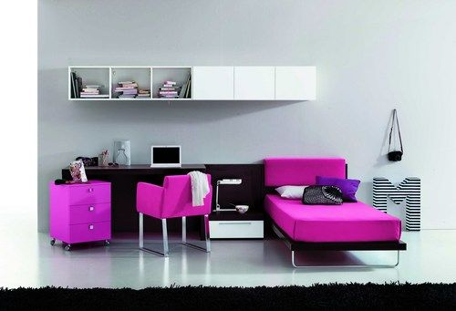 chambre pr ado fille. Black Bedroom Furniture Sets. Home Design Ideas