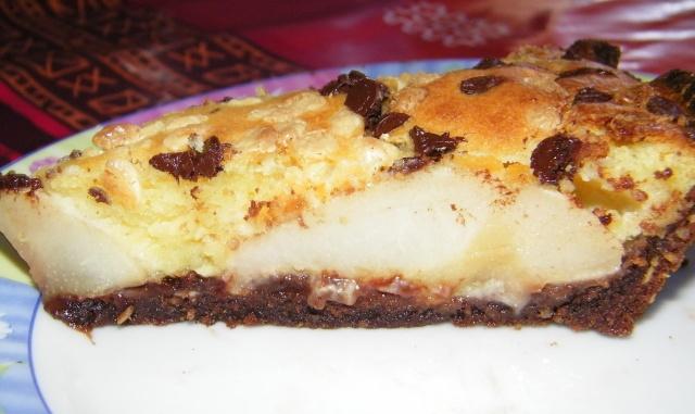 Tarte poire amandine au chocolat