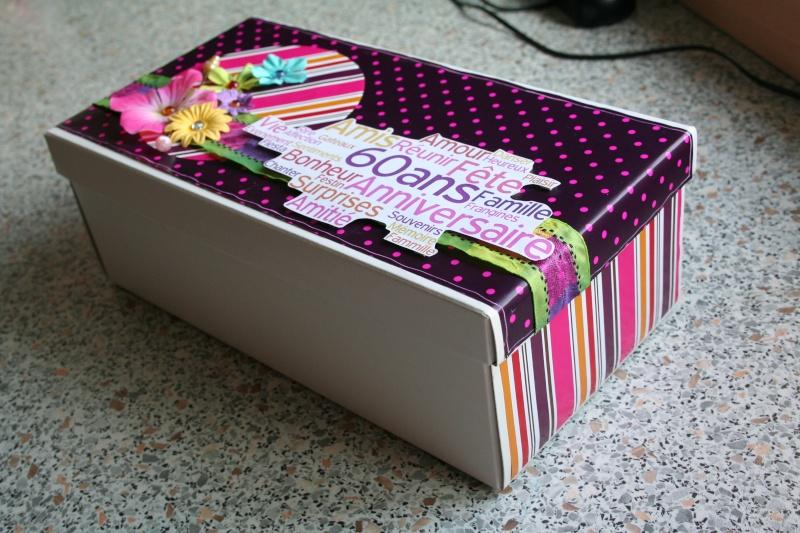 Cadeaux pour ma tatie suite et fin dans la bulle de - Decorer boite carton pour anniversaire ...