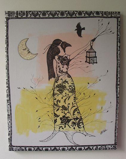 Femme oiseau dans Mes petites oeuvres 59677111