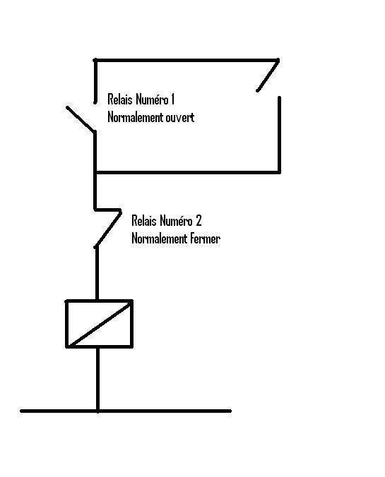 schema relais avec auto maintien