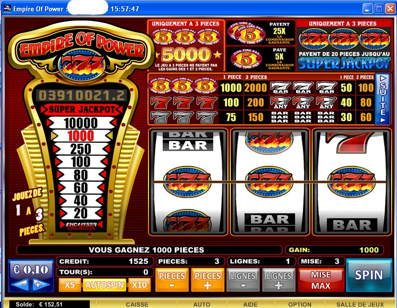 all slots casino gratuit