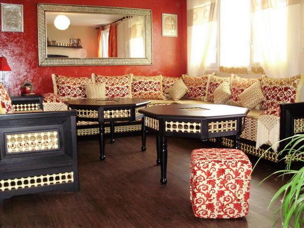 Couleur pour un salon marocain - Matelas pour salon marocain ...