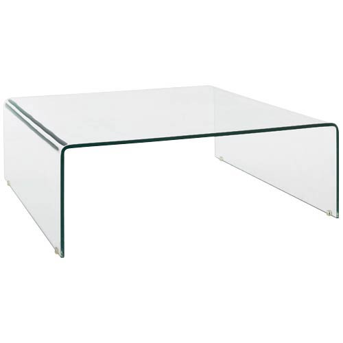 Table basse bent fly for Table basse en verre trempe
