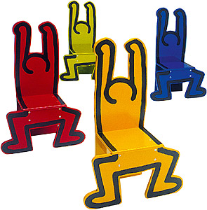chaise pour enfant bonhomme by keith haring. Black Bedroom Furniture Sets. Home Design Ideas