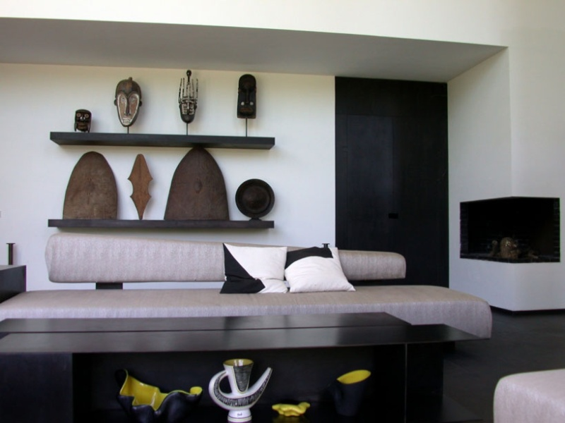 d coration biblioth que africaine. Black Bedroom Furniture Sets. Home Design Ideas