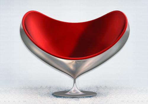 Fauteuil design love par sandro santantonio ancolies for Fauteuil confortable design