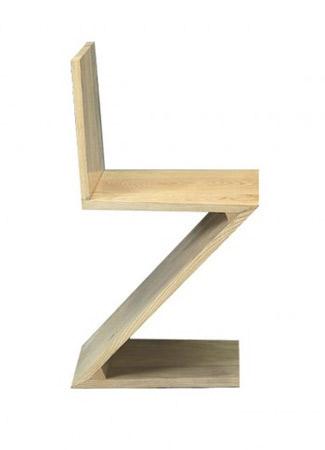 Chaise zig zag for Meuble zig zag