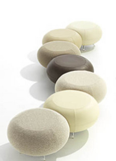 pouf pouf pebble by allermuir. Black Bedroom Furniture Sets. Home Design Ideas
