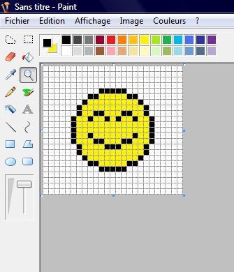 Tuto faire un smiley simple avec paint - Smiley a dessiner ...