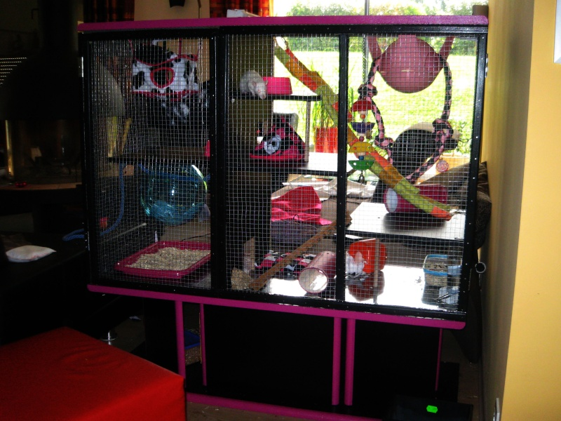 transformation d un meuble t l en cage. Black Bedroom Furniture Sets. Home Design Ideas