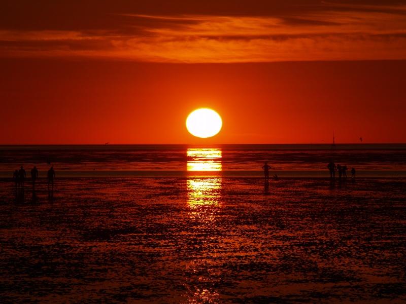 Mer du nord coucher de soleil - Photos de coucher de soleil sur la mer ...