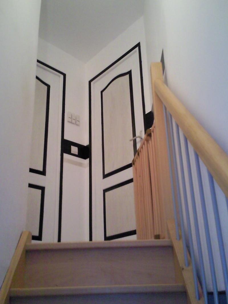 Une porte a peindre poser mes plinthes et tous accessoires for Peindre une porte
