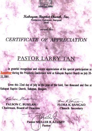 My personal information and credentials of my invitations for my endtimes updates prophetic seminar nationwide heres some samples of my certificates of appreciation as their guest speaker yelopaper Image collections