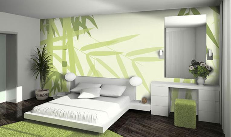 Schlafzimmer Wandgestaltung Streifen: Brauntone Als Wandfarben ... Schlafzimmer Gestalten Mit Tapeten